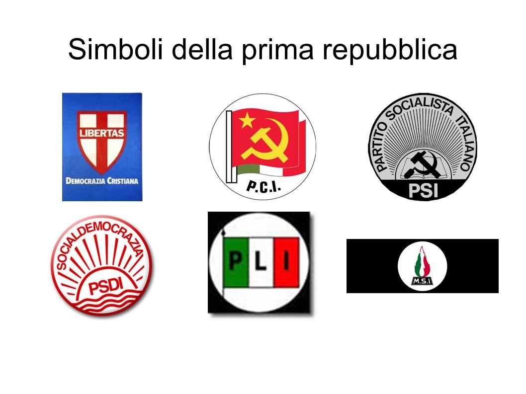 Simboli della prima repubblica
