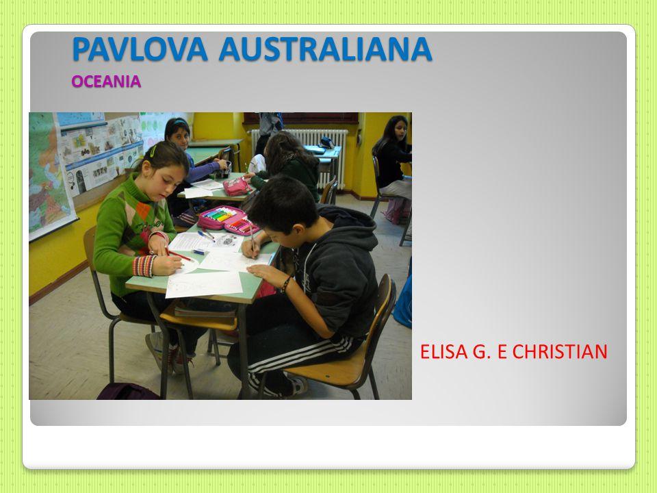 PAVLOVA AUSTRALIANA OCEANIA ELISA G. E CHRISTIAN