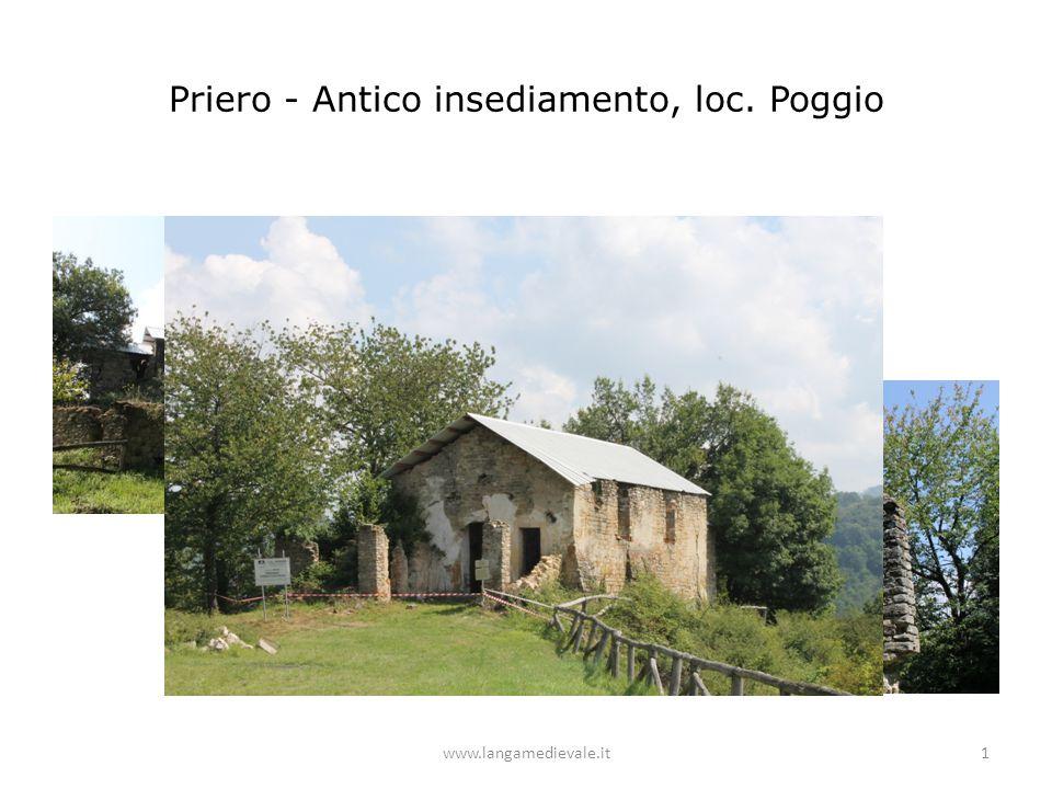 Priero - Antico insediamento, loc. Poggio www.langamedievale.it1