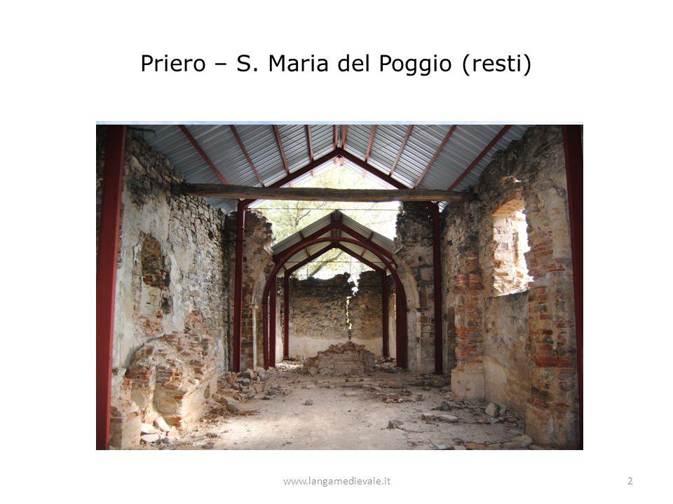 Priero – S. Maria del Poggio (resti) www.langamedievale.it2