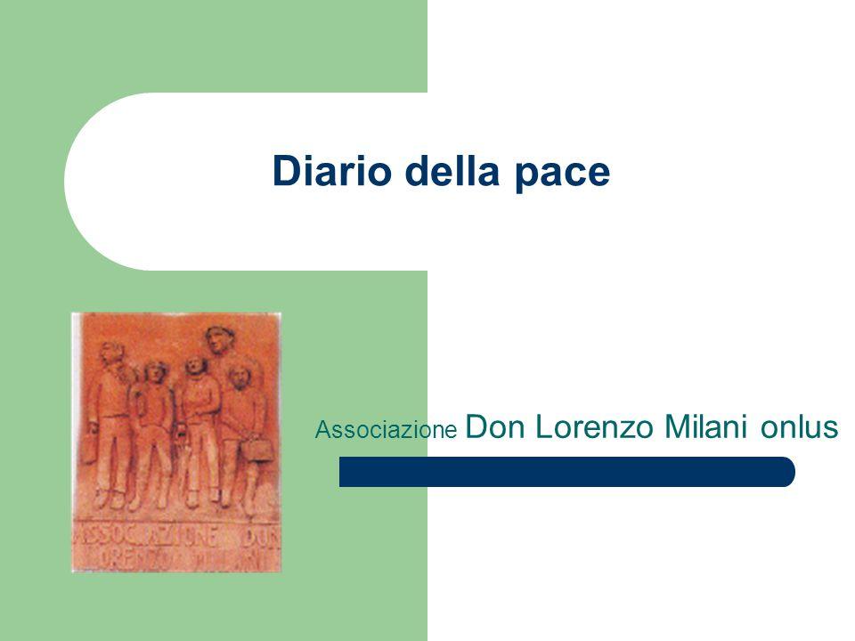 Diario della pace Associazione Don Lorenzo Milani onlus