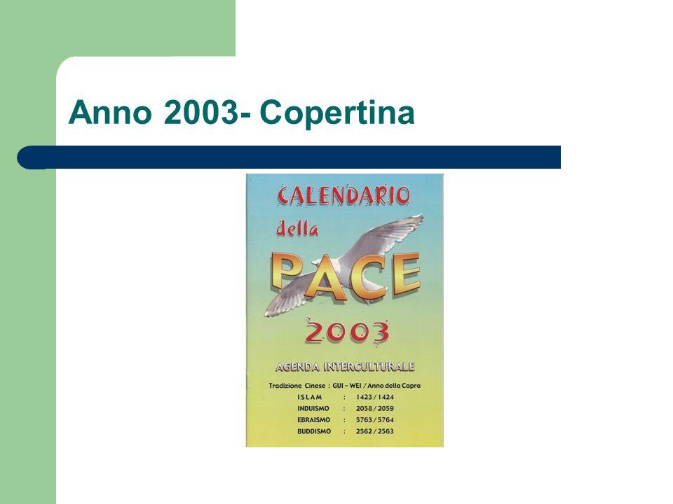 Anno 2003- Copertina