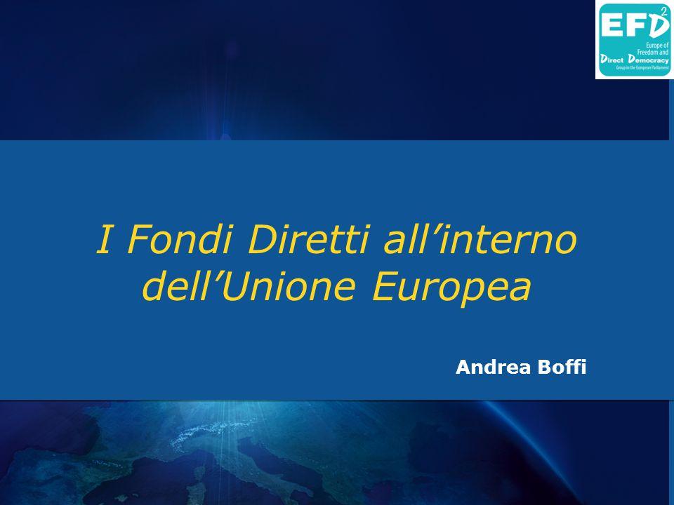 I Fondi Diretti all'interno dell'Unione Europea Andrea Boffi