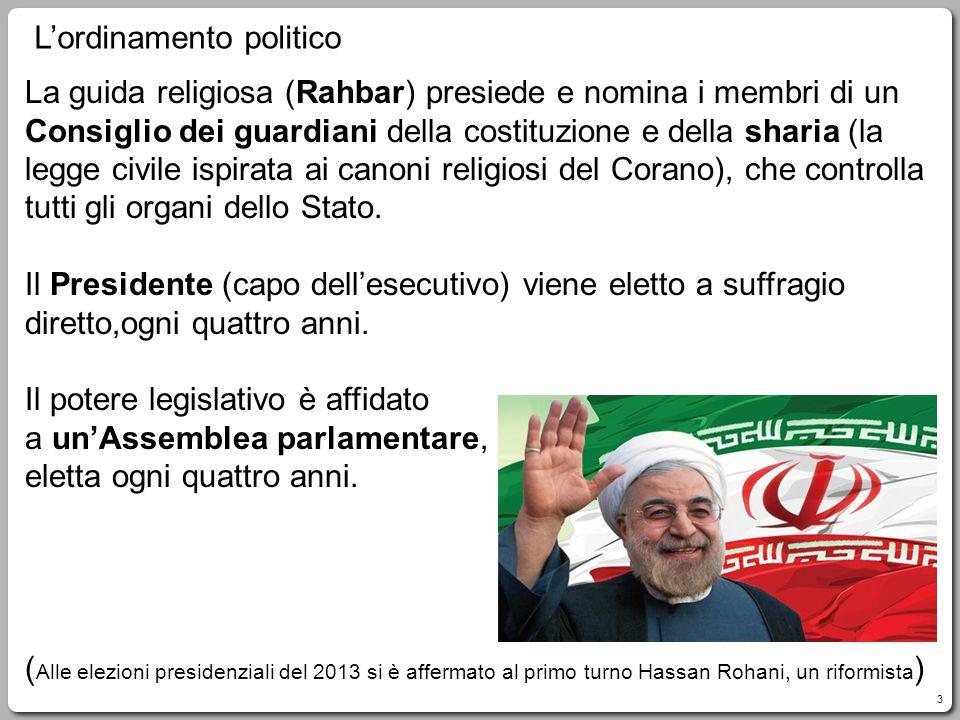 3 La guida religiosa (Rahbar) presiede e nomina i membri di un Consiglio dei guardiani della costituzione e della sharia (la legge civile ispirata ai