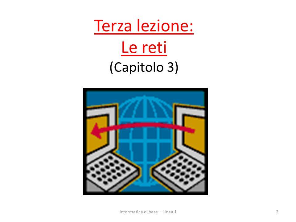 Terza lezione: Le reti (Capitolo 3) 2Informatica di base – Linea 1