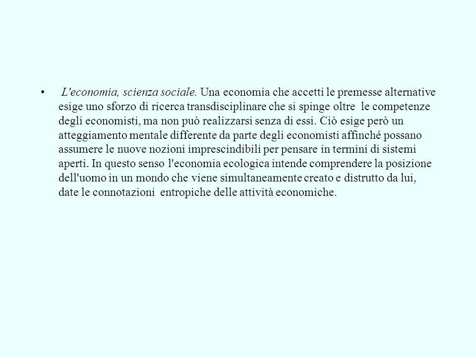 L economia, scienza sociale.