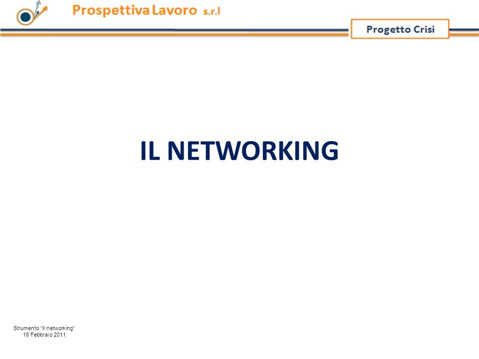IL NETWORKING Strumento Il networking 18 Febbraio 2011