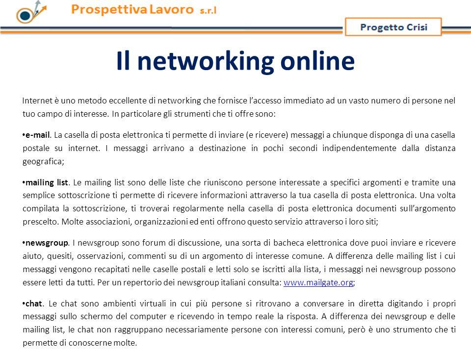 Il networking online Internet è uno metodo eccellente di networking che fornisce l'accesso immediato ad un vasto numero di persone nel tuo campo di interesse.