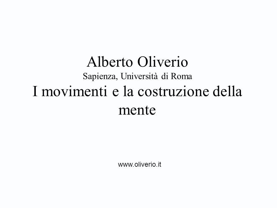 Alberto Oliverio Sapienza, Università di Roma I movimenti e la costruzione della mente www.oliverio.it