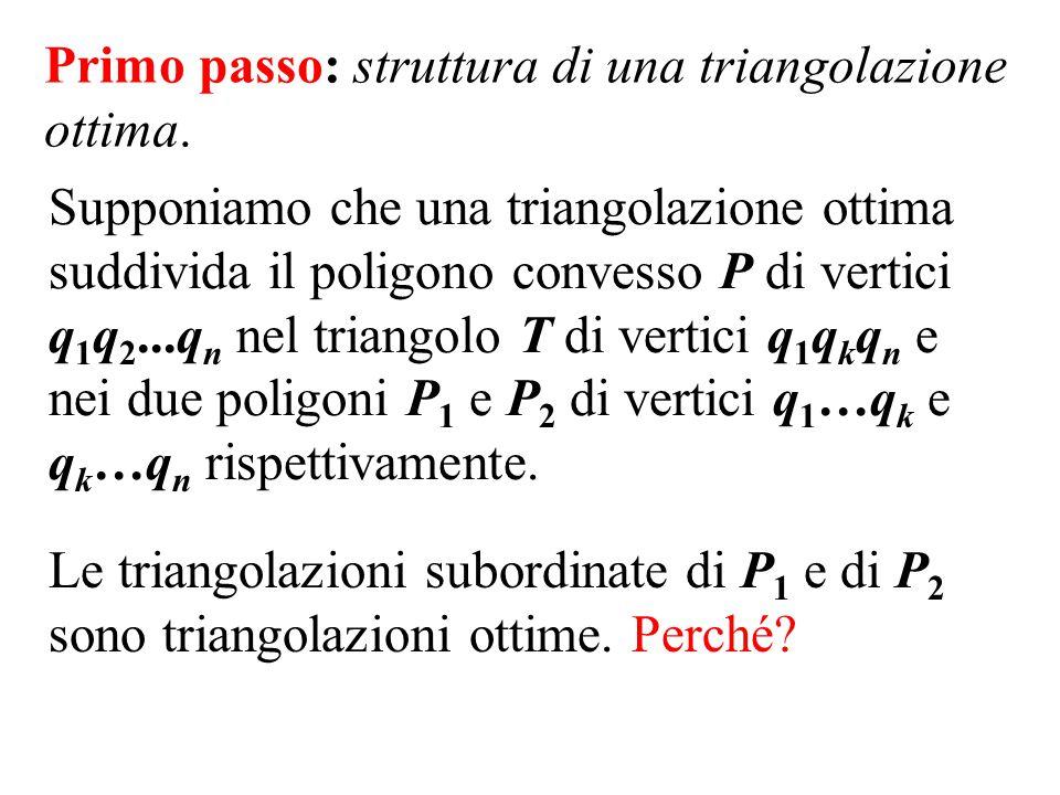 Primo passo: struttura di una triangolazione ottima.