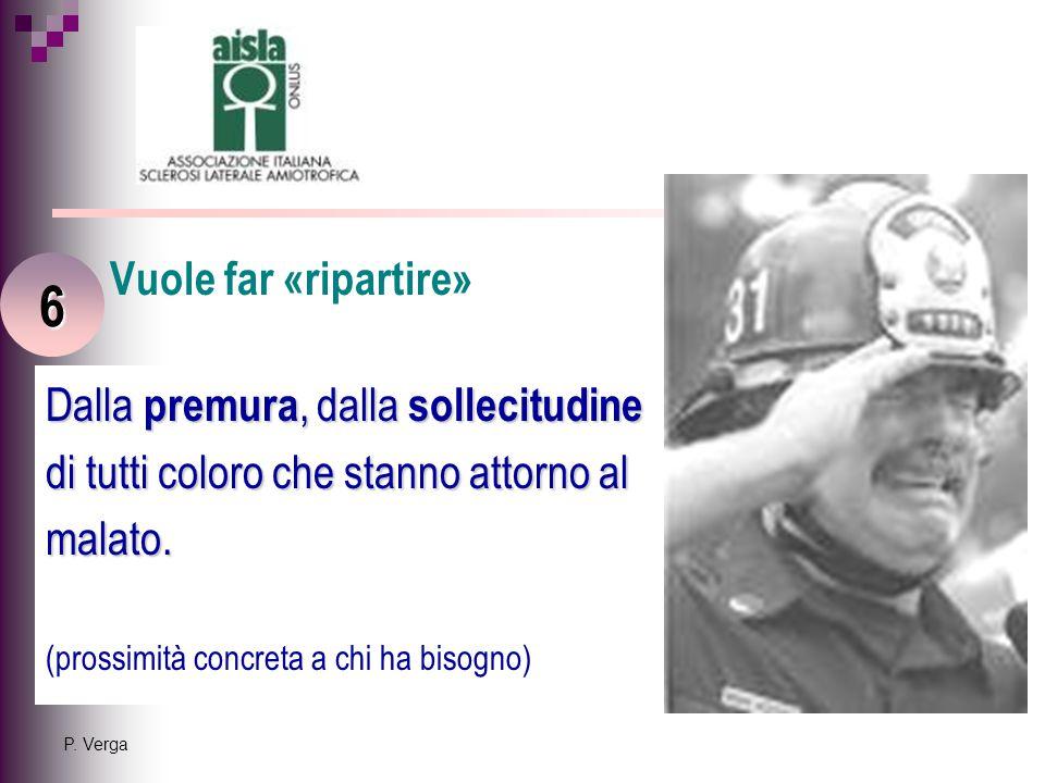 P. Verga Dalla premura, dalla sollecitudine di tutti coloro che stanno attorno al malato.