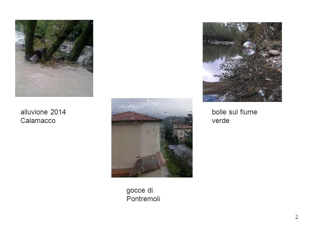 alluvione 2014 Calamacco bolle sul fiume verde gocce di Pontremoli 2