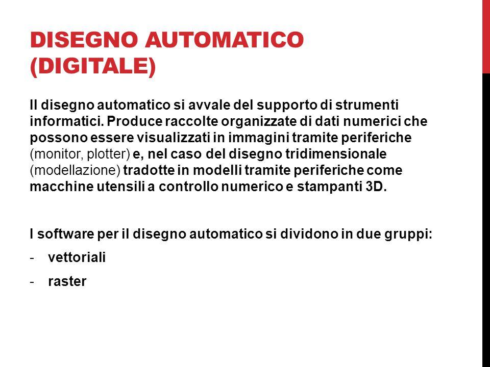 DISEGNO AUTOMATICO (DIGITALE) Il disegno automatico si avvale del supporto di strumenti informatici.
