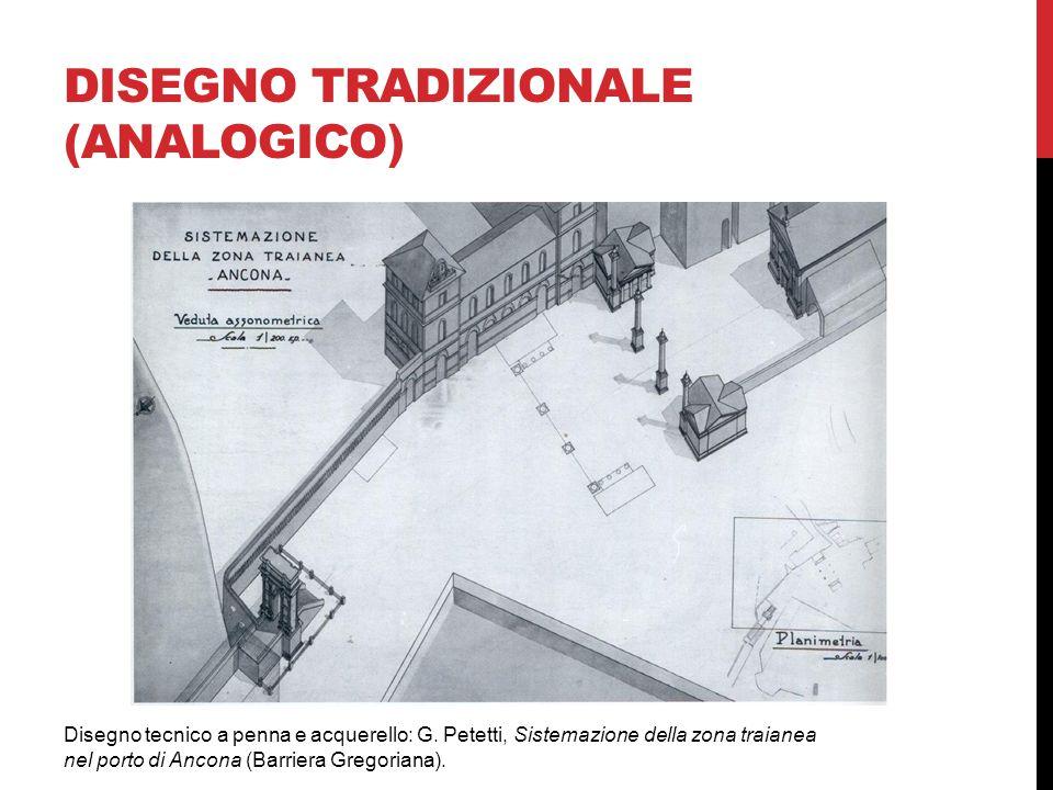 DISEGNO TRADIZIONALE (ANALOGICO) Disegno tecnico a penna e acquerello: G.
