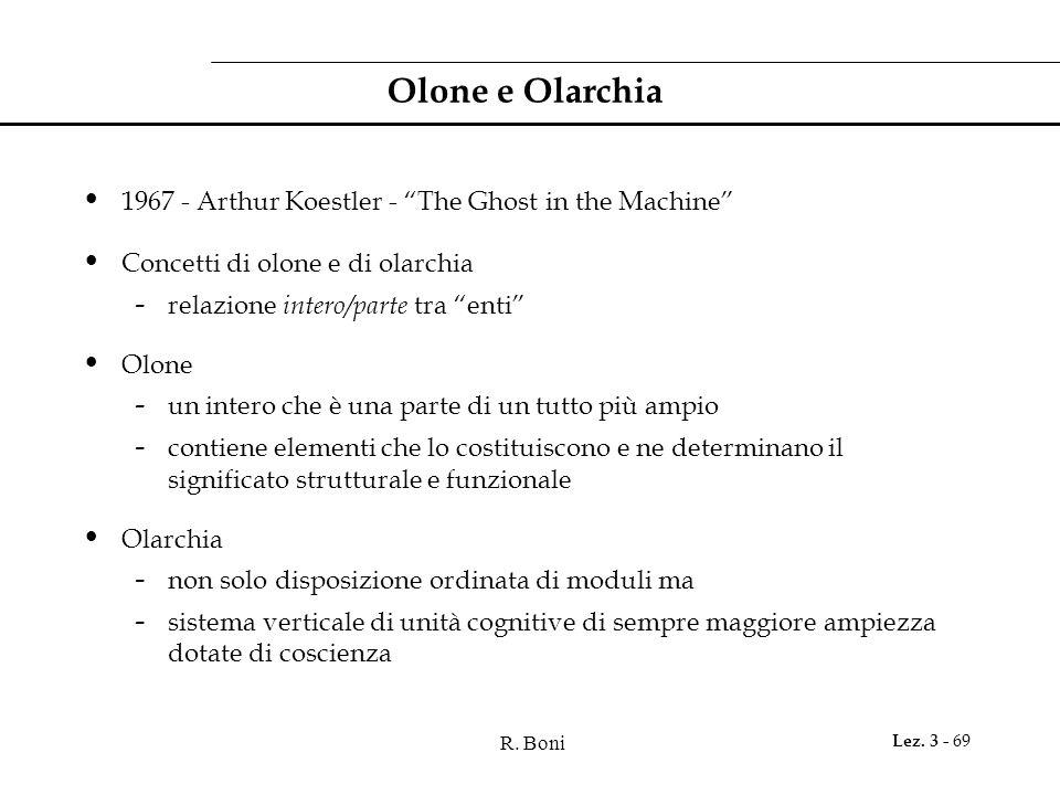 """R. Boni Lez. 3 - 69 Olone e Olarchia 1967 - Arthur Koestler - """"The Ghost in the Machine"""" Concetti di olone e di olarchia - relazione intero/parte tra"""