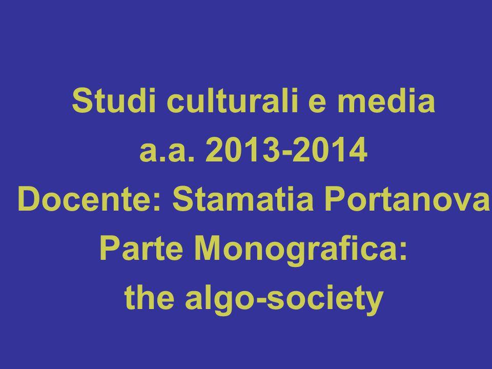 Studi culturali e media a.a.