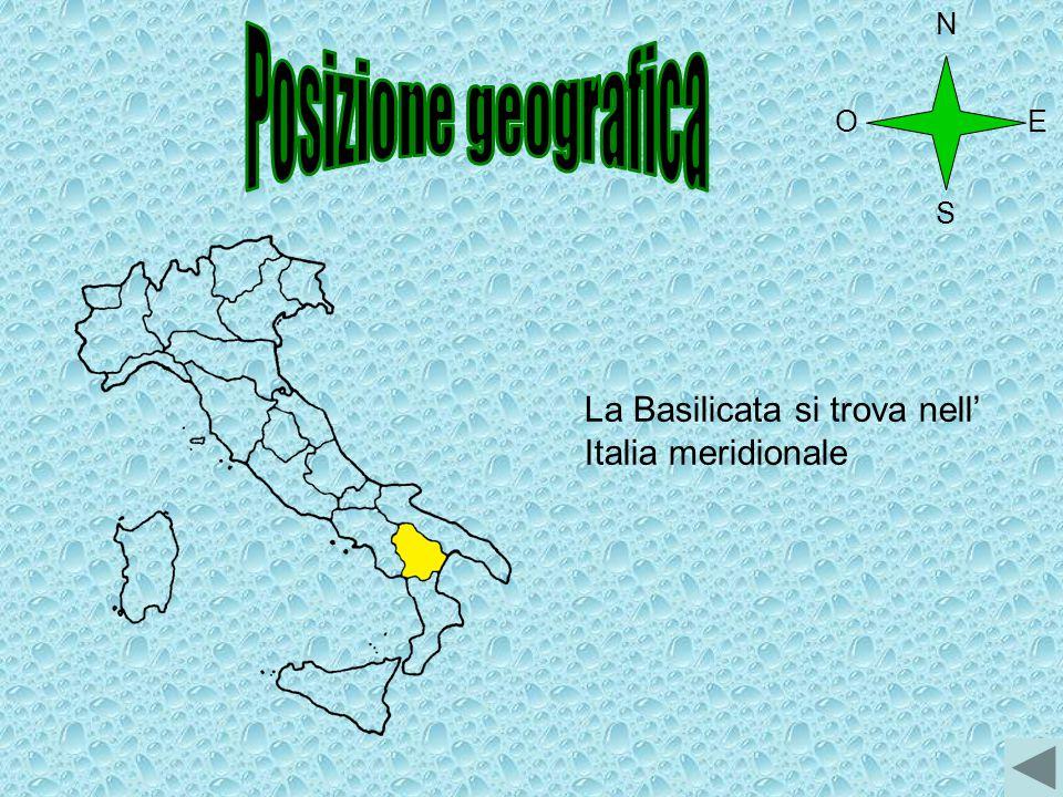 O N S E La Basilicata si trova nell' Italia meridionale