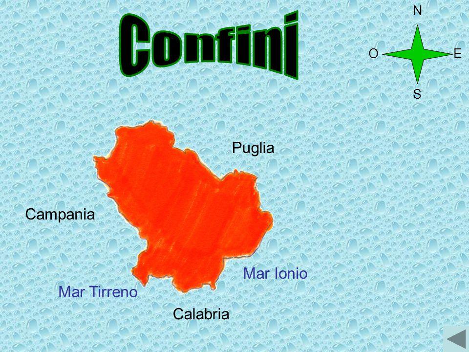 Campania Calabria Mar Tirreno Mar Ionio Puglia O N S E