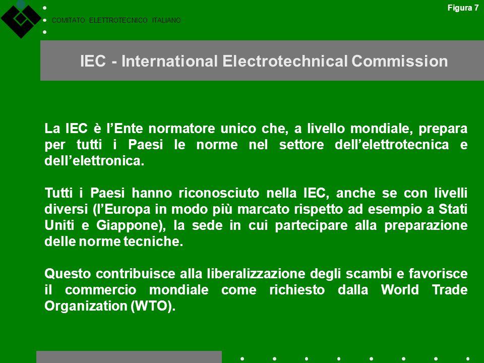 COMITATO ELETTROTECNICO ITALIANO IEC - International Electrotechnical Commission La IEC è l'Ente normatore unico che, a livello mondiale, prepara per