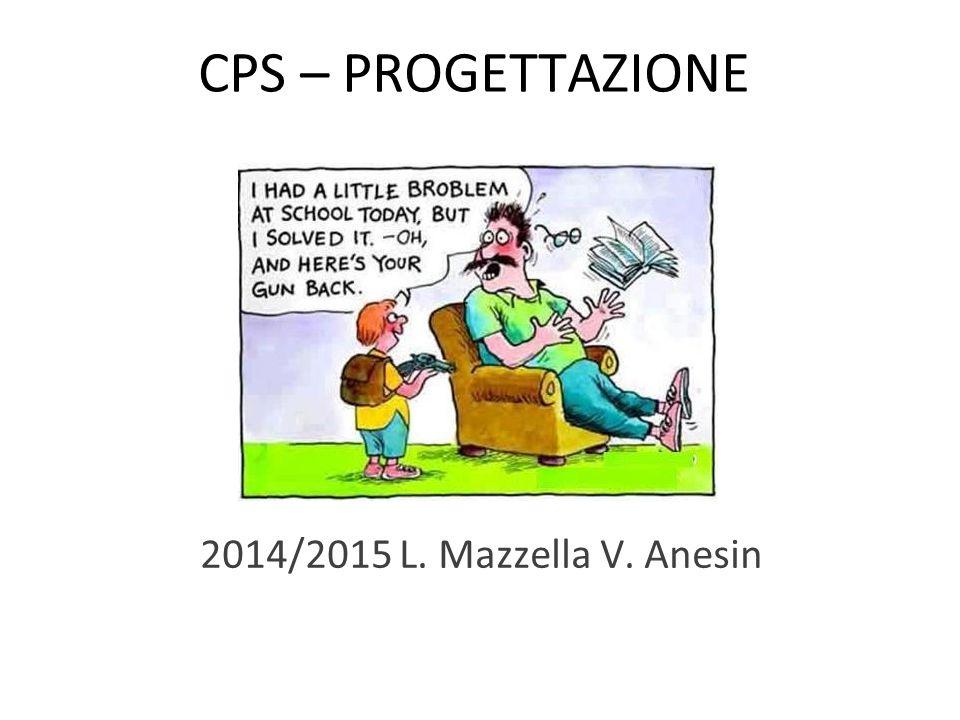 CPS – PROGETTAZIONE 2014/2015 L. Mazzella V. Anesin