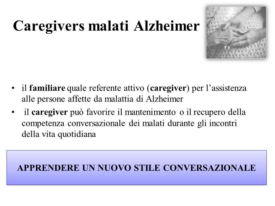 Caregivers malati Alzheimer il familiare quale referente attivo (caregiver) per l'assistenza alle persone affette da malattia di Alzheimer il caregive