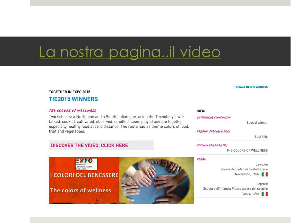La nostra pagina..il video