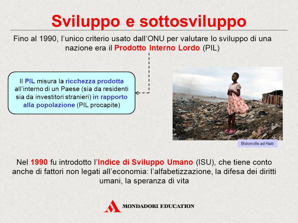 Sviluppo e sottosviluppo Nel 1990 fu introdotto l'Indice di Sviluppo Umano (ISU), che tiene conto anche di fattori non legati all'economia: l'alfabeti