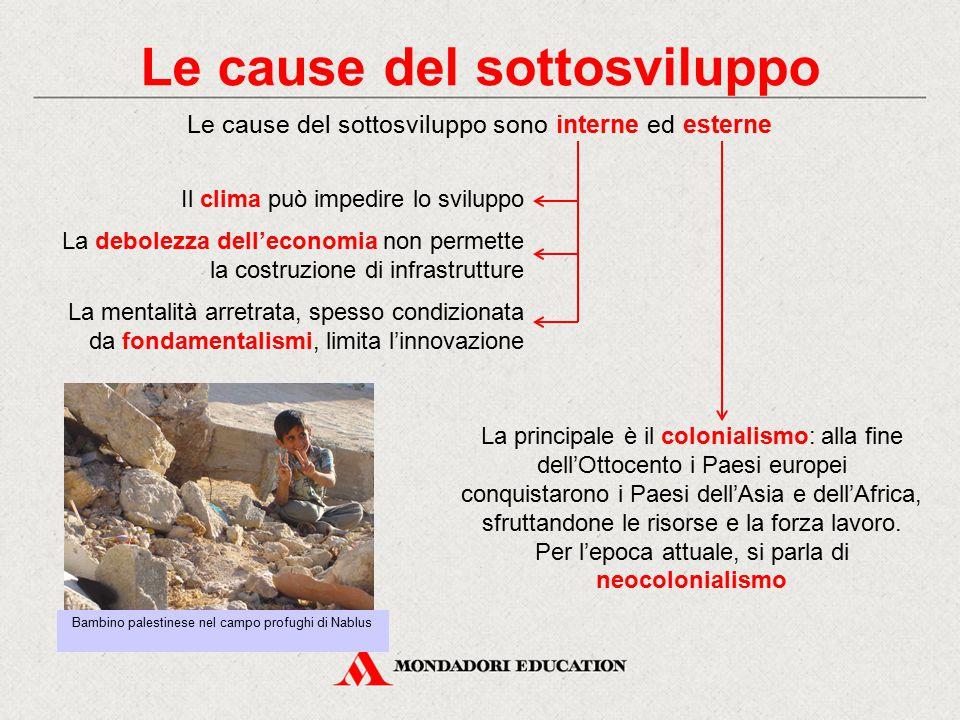 Le cause del sottosviluppo La principale è il colonialismo: alla fine dell'Ottocento i Paesi europei conquistarono i Paesi dell'Asia e dell'Africa, sf