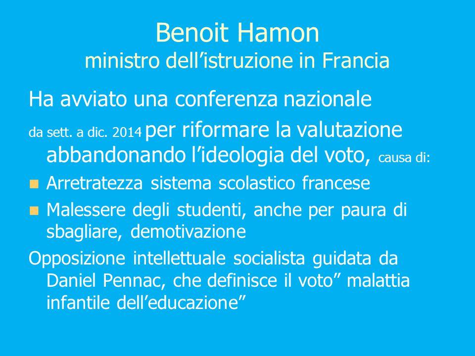 Benoit Hamon ministro dell'istruzione in Francia Ha avviato una conferenza nazionale da sett.