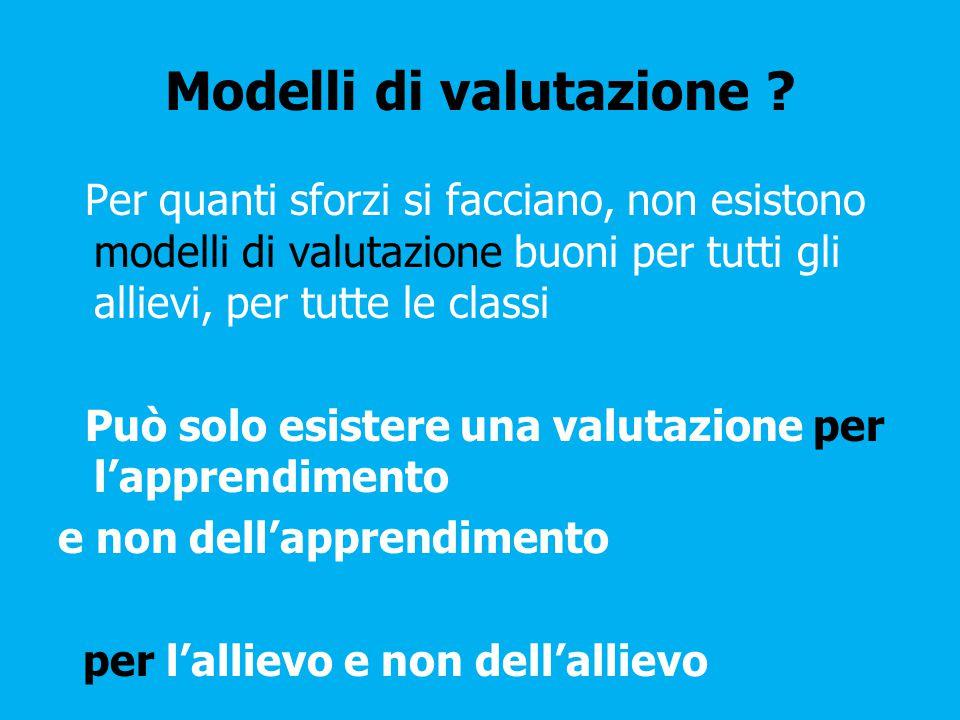 Modelli di valutazione .