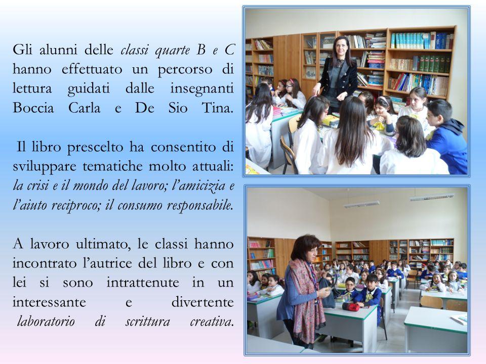 Gli alunni delle classi quarte B e C hanno effettuato un percorso di lettura guidati dalle insegnanti Boccia Carla e De Sio Tina.