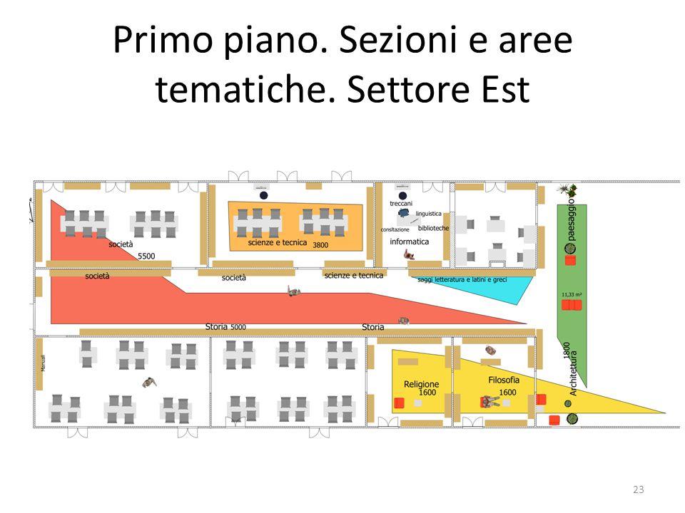 Primo piano. Sezioni e aree tematiche. Settore Est 23