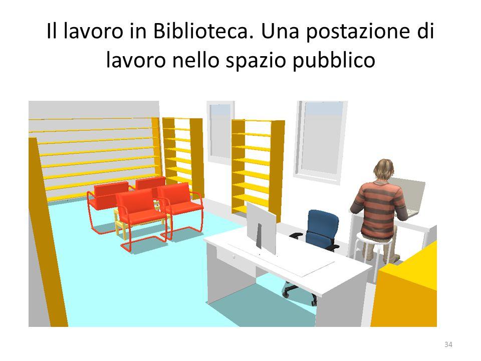 Il lavoro in Biblioteca. Una postazione di lavoro nello spazio pubblico 34