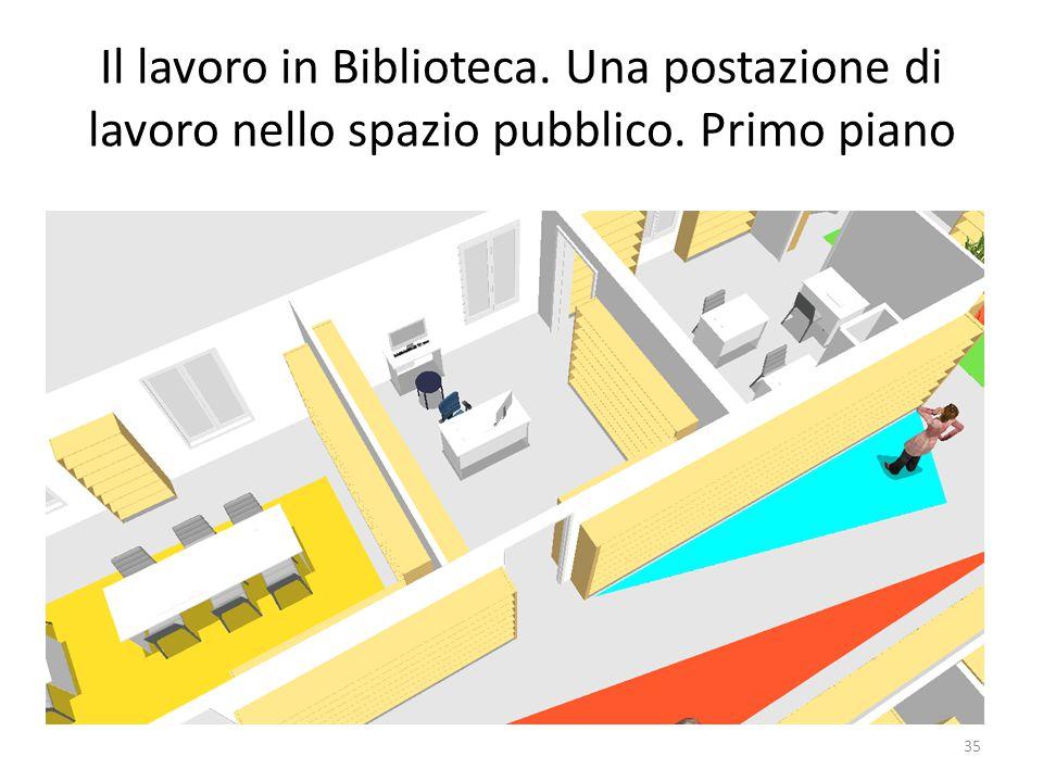 Il lavoro in Biblioteca. Una postazione di lavoro nello spazio pubblico. Primo piano 35