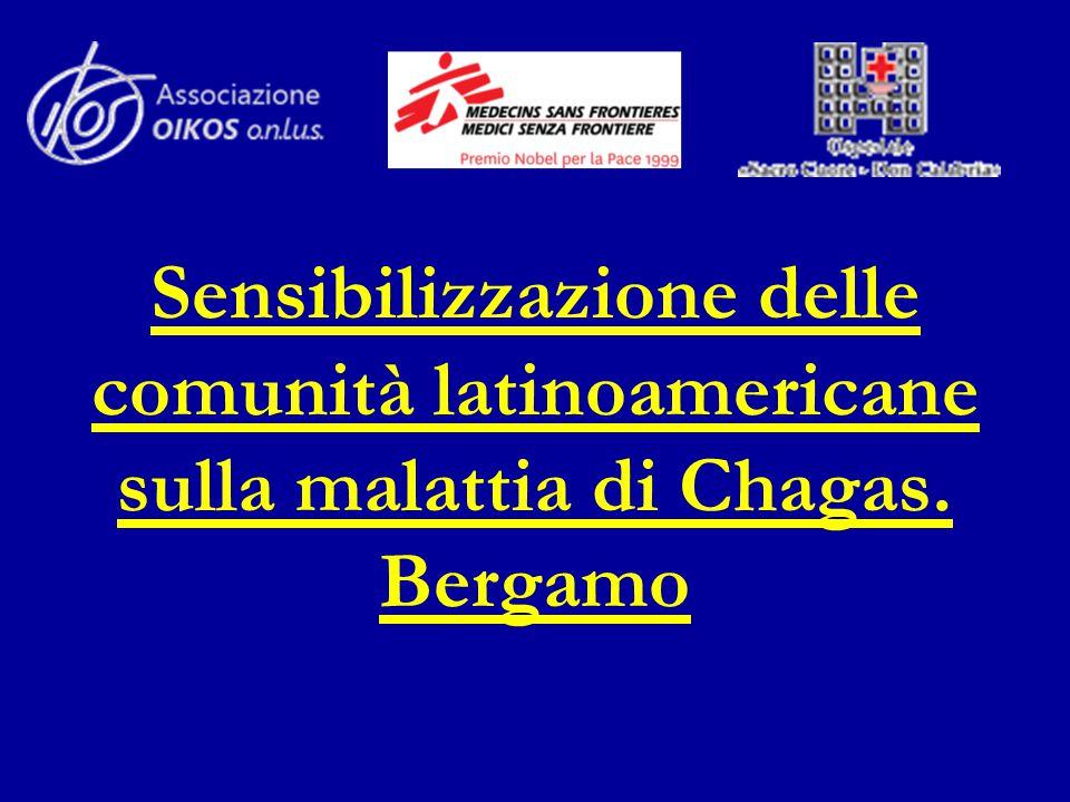 Sensibilizzazione delle comunità latinoamericane sulla malattia di Chagas. Bergamo