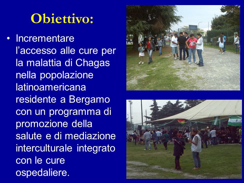 Incrementare l'accesso alle cure per la malattia di Chagas nella popolazione latinoamericana residente a Bergamo con un programma di promozione della
