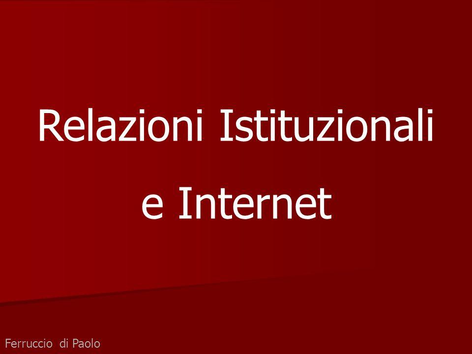 Ferruccio di Paolo Relazioni Istituzionali e Internet