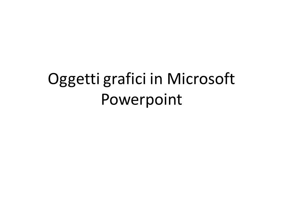 Oggetti grafici in Microsoft Powerpoint