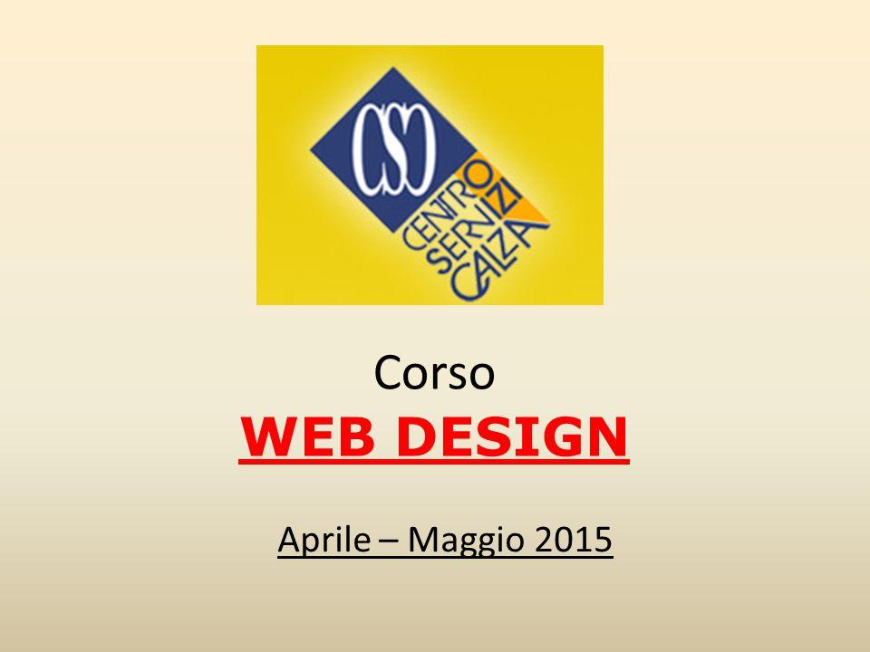 Corso WEB DESIGN Aprile – Maggio 2015