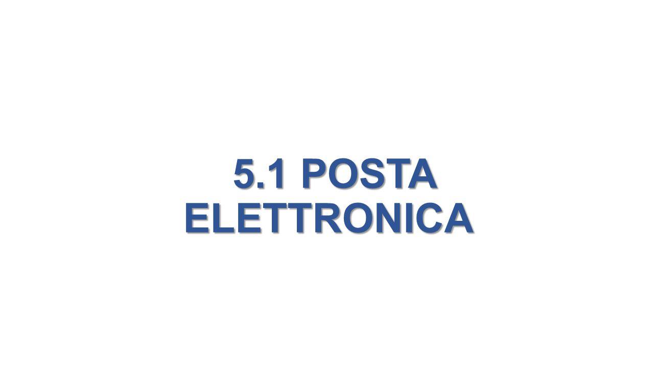 5.1 POSTA ELETTRONICA 5.1 POSTA ELETTRONICA