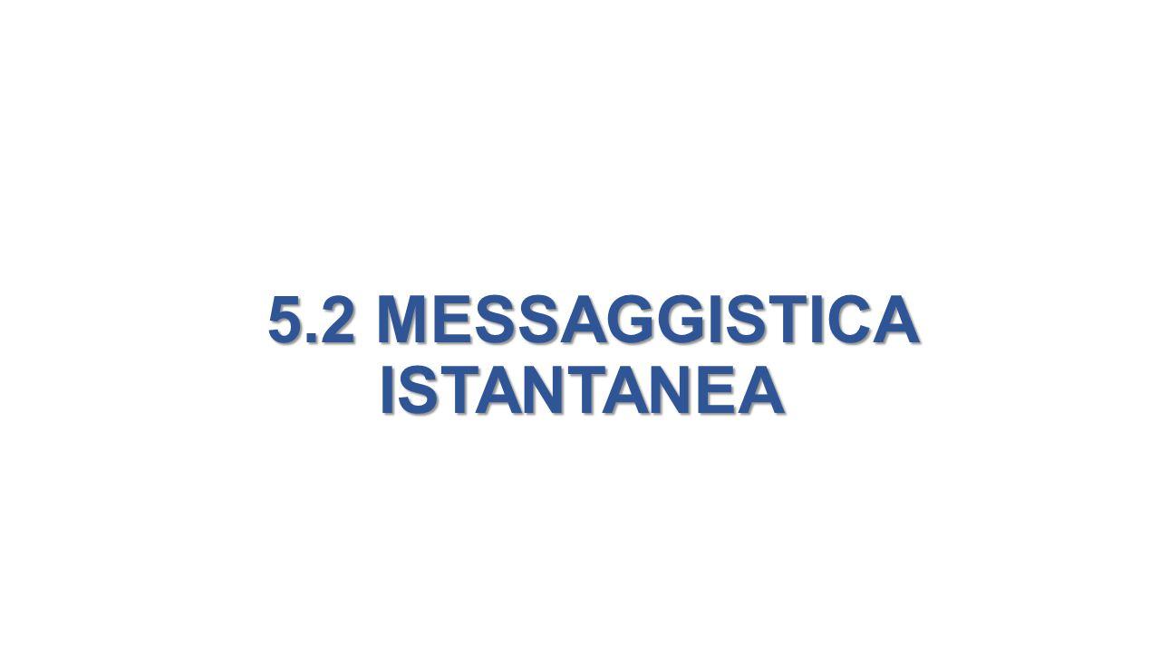 5.2 MESSAGGISTICA ISTANTANEA 5.2 MESSAGGISTICA ISTANTANEA