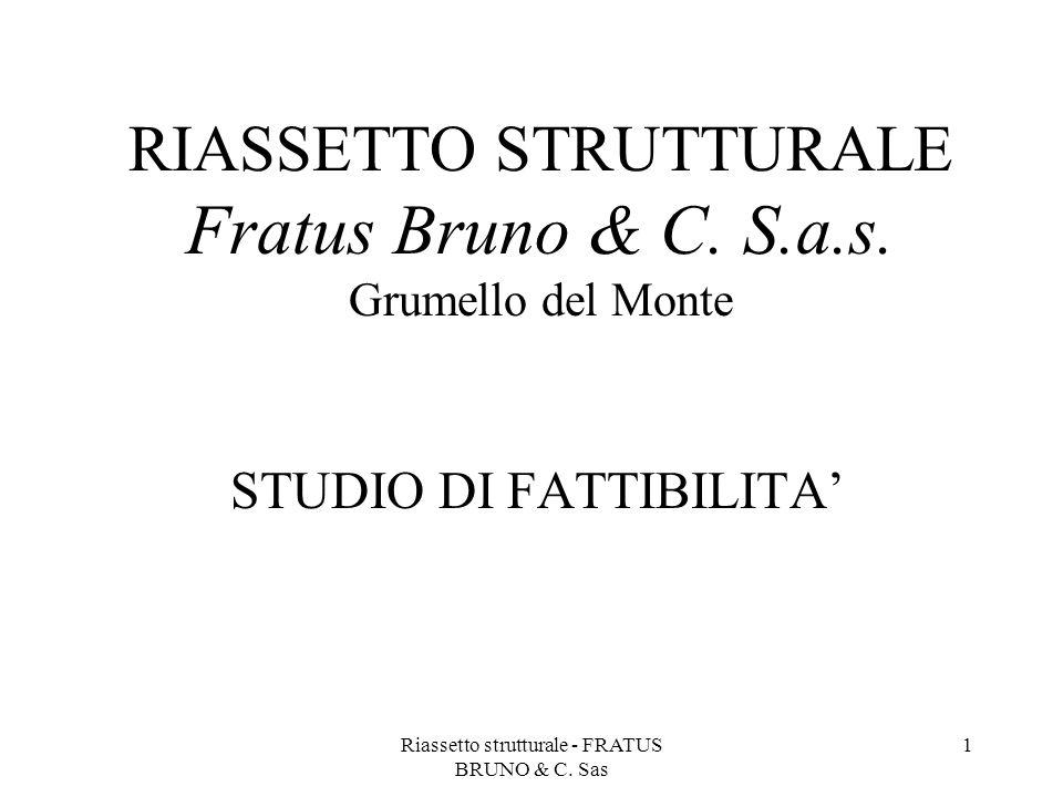 Riassetto strutturale - FRATUS BRUNO & C. Sas 1 RIASSETTO STRUTTURALE Fratus Bruno & C. S.a.s. Grumello del Monte STUDIO DI FATTIBILITA'