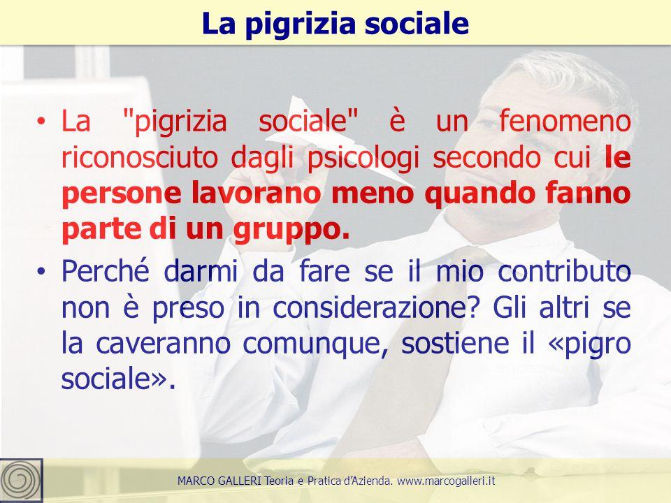 La pigrizia sociale è un fenomeno riconosciuto dagli psicologi secondo cui le persone lavorano meno quando fanno parte di un gruppo.
