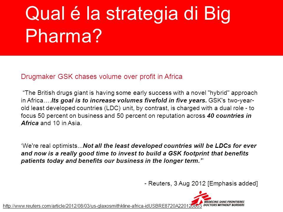 Qual é la strategia di Big Pharma.