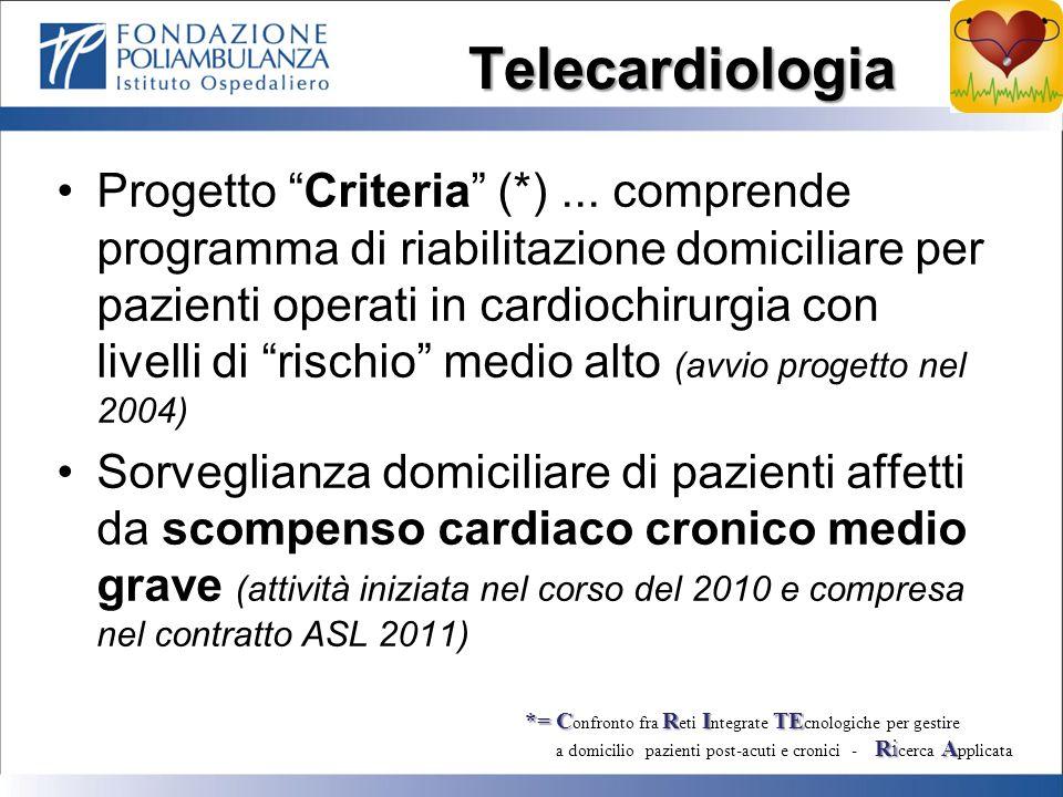Telecardiologia Progetto Criteria (*)...