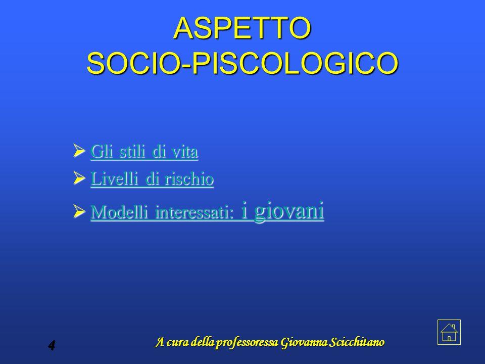 A cura della professoressa Giovanna Scicchitano 4 ASPETTO SOCIO-PISCOLOGICO GGGG llll iiii s s s s tttt iiii llll iiii d d d d iiii v v v v iiii t