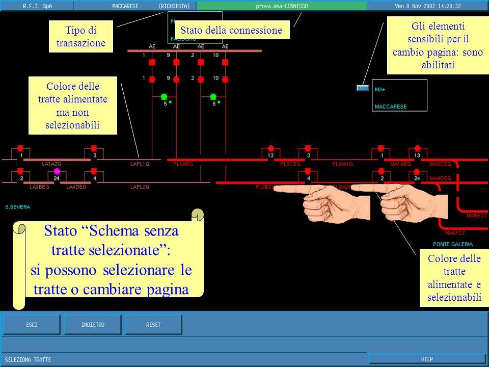 Stato Localizzazione da operatore : previsto solo per lo SMA2 portatile (lo SMA2 fisso è localizzato in fase di installazione).