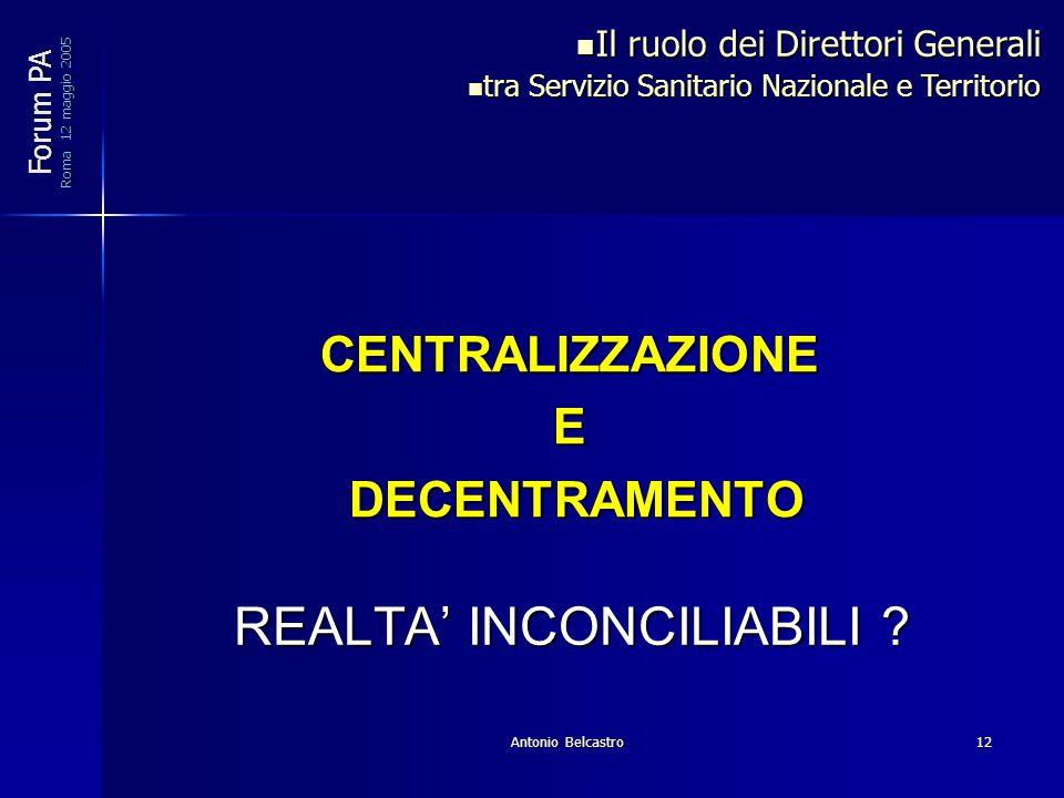 Antonio Belcastro12 REALTA' INCONCILIABILI .