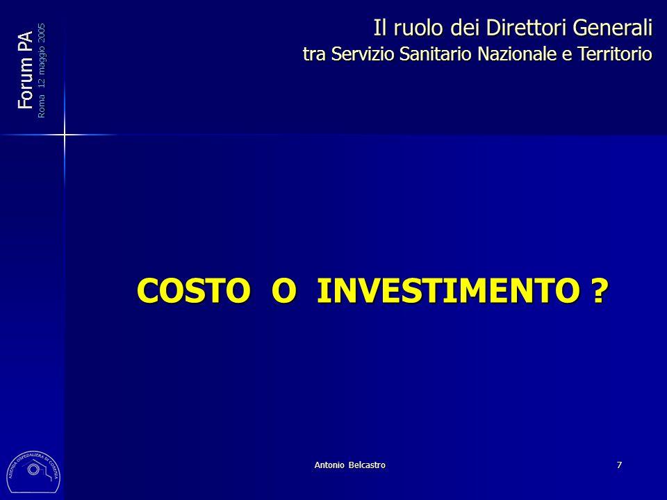 Antonio Belcastro 7 COSTO O INVESTIMENTO .