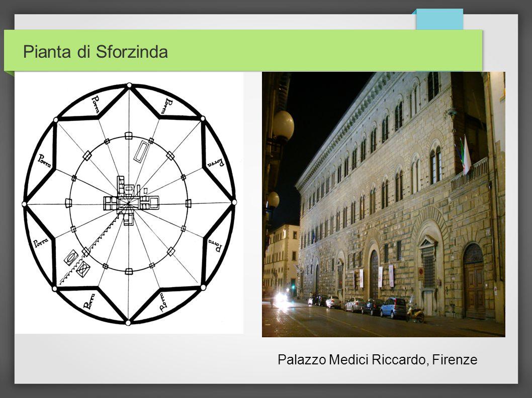 Pianta di Sforzinda Palazzo Medici Riccardo, Firenze